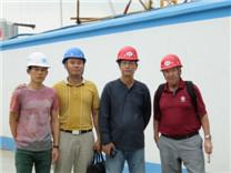 英国菲律宾合作伙伴考察深业物流中心钢筋直螺纹套筒项目