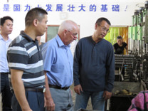 外商考察固力士钢筋套筒生产基地