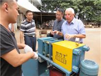 英国菲律宾合作伙伴检测钢筋镦粗机操作情况