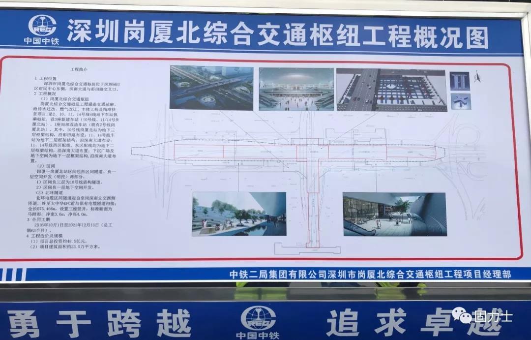 固力士钢筋套筒助力深圳岗厦北综合交通枢纽项目建设